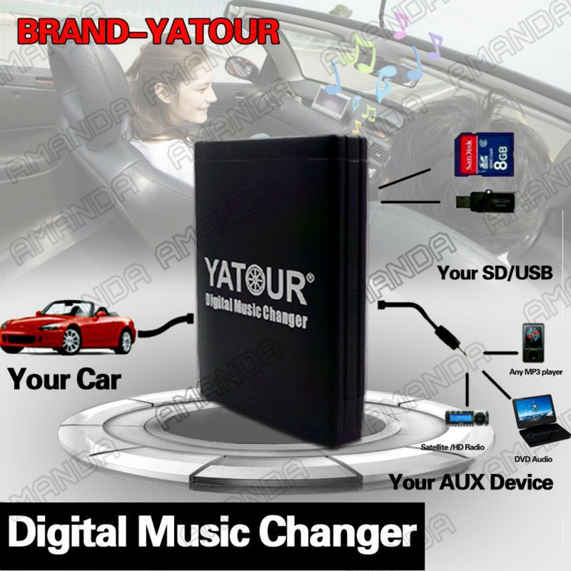 YATOUR CAR ADAPTER AUX MP3 SD USB MUSIC CD CHANGER 14PIN CONNECTOR FOR SUZUKI (Europe) Liana/Splash/Swift PACR-SERIES RADIOS