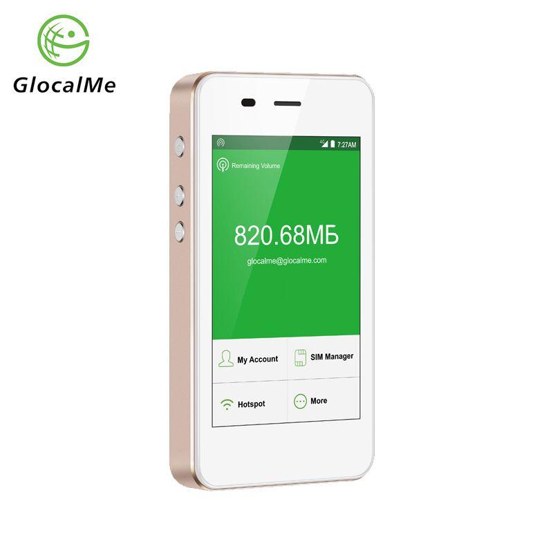 GlocalMe 4G WiFi Router Freilaufenden Fast Netzwerk Mobiler Hotspot mit Energienbank MiFi Dual-sim-kartensteckplatz