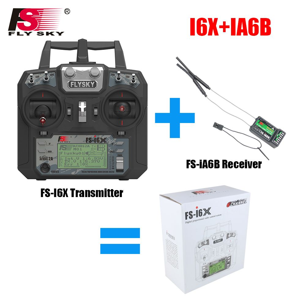 Fly Sky FS-i6X 10CH 2.4GHz AFHDS 2A RC Transmitter With FS-iA6B FS-iA10B FS-X6B FS-A8S Receiver For Rc Airplane Drone Quadecopte