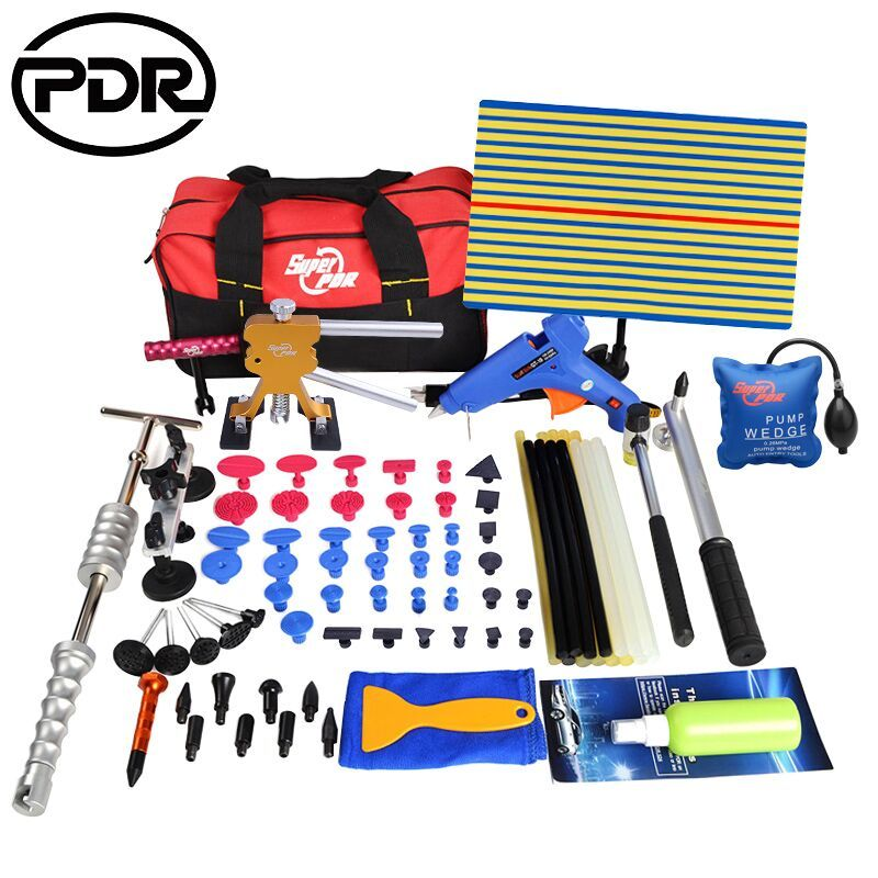 PDR Tools Kit Car Repair Kit Paintless Dent Removal Kit Auto Dent Repair Tool To Remove Dents Puller Glue Tabs Tool Bag