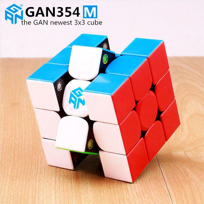 Gan 354 M magnétique puzzle magique vitesse cube 3x3 autocollant moins professionnel Gan354 M aimants vitesse cubo magico GAN354M jouets pour enfant