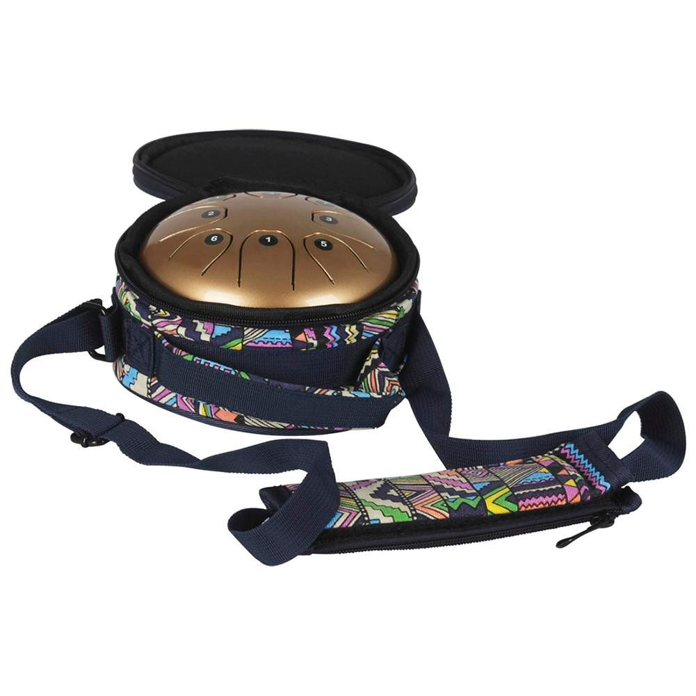 5.5 Inch Mini Steel Tongue Drum Percussion Instrument 8 Notes Drums With National Style Free Bag And Rubber Mallets