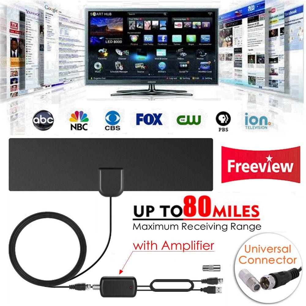 Indoor Free TV <font><b>Surf</b></font> Radius Antena Digital HDTV Cable TV Fox Antenna DVB-T/T2 VHF UHF TVSurf Antenas Receiver + Signal Amplifier