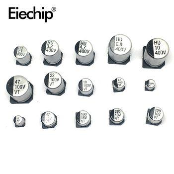 130 PCS/LOT 1 uF-220 uF SMD Aluminium Condensateur Électrolytique Assorties Kit Ensemble, 13values * 10 pcs = 130 pcs Échantillons Kit