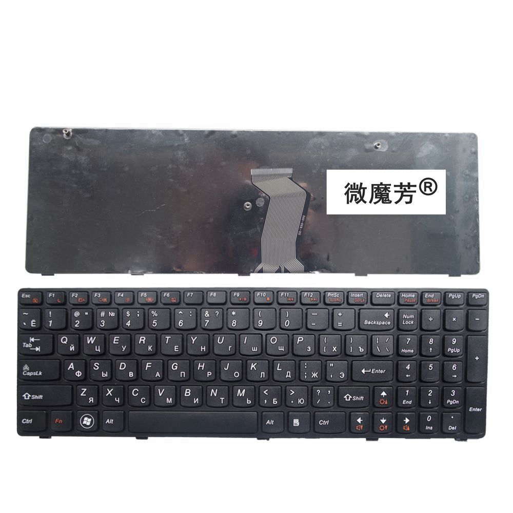 Russia NEW Keyboard FOR LENOVO G580 Z580A G585 Z585 V580 G590 Z580 RU laptop keyboard