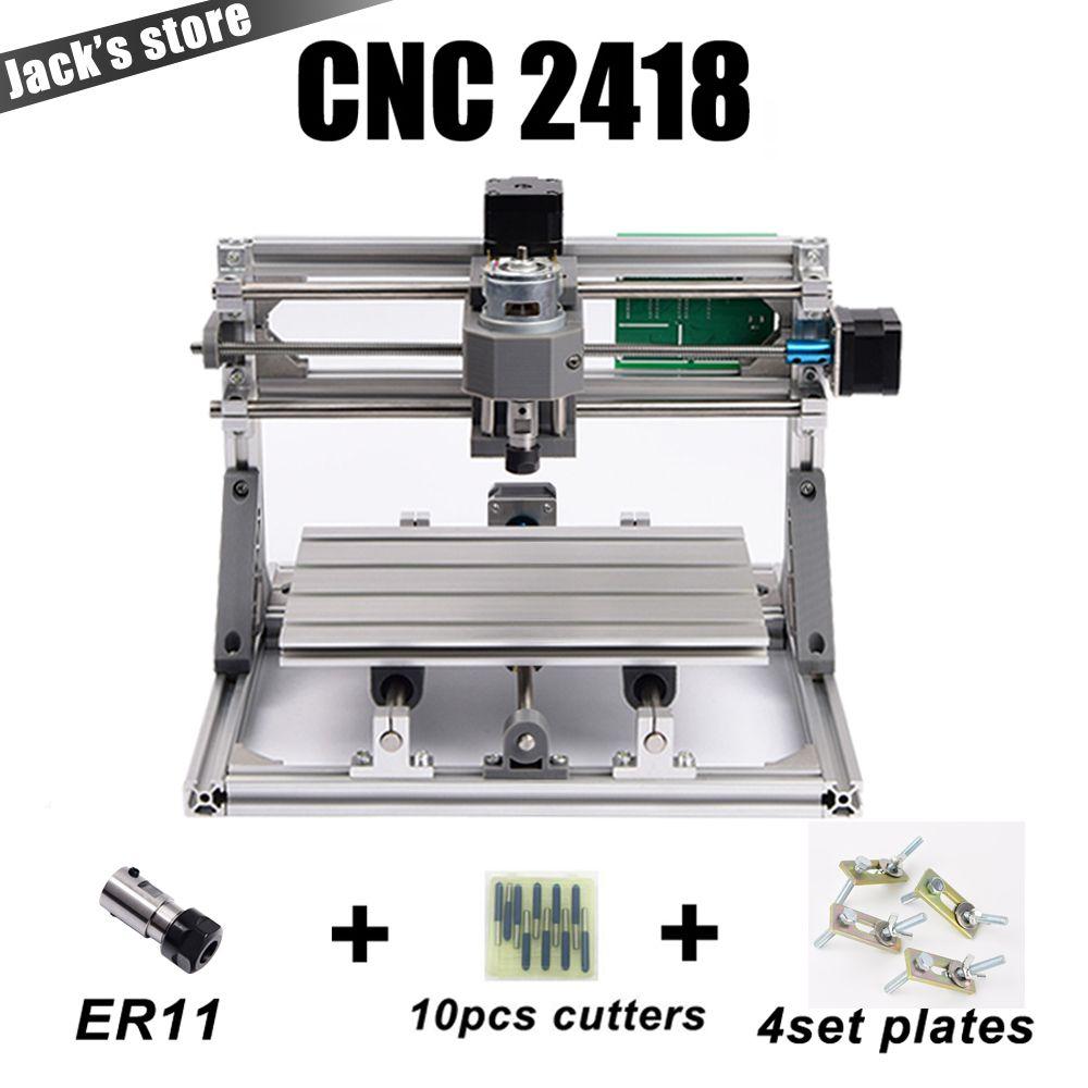 CNC 2418 avec ER11, machine de gravure de CNC, fraiseuse de carte Pcb, Machine de sculpture sur bois, mini routeur de CNC, CNC 2418, meilleurs jouets avancés