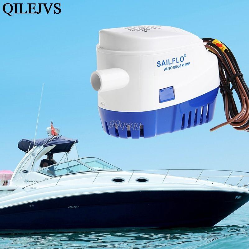 12 V Automático Submesible Barco Bomba de Agua de Sentina 750GPH Auto con Interruptor de Flotador Entrega envío de La Gota