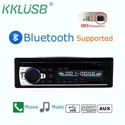 Voiture Bluetooth Autoradio JSD-520 Stéréo De Voiture Radio 1 Din V2.0 FM Entrée Aux Récepteur Audio De Voiture SD USB MP3 MMC WMA Voiture radio