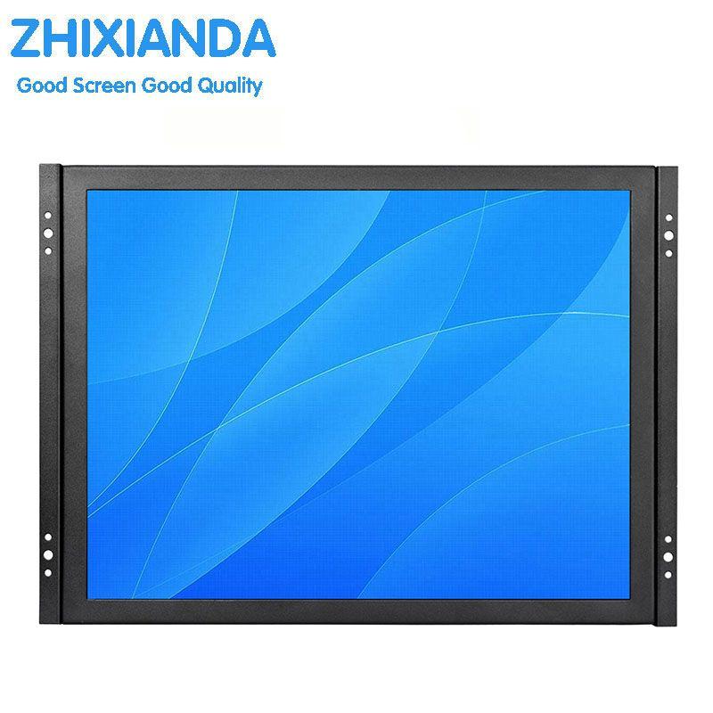 VGA HDMI touch-monitor 15 zoll 1024*768 HDMI resistiven touchscreen-monitor für industrielle