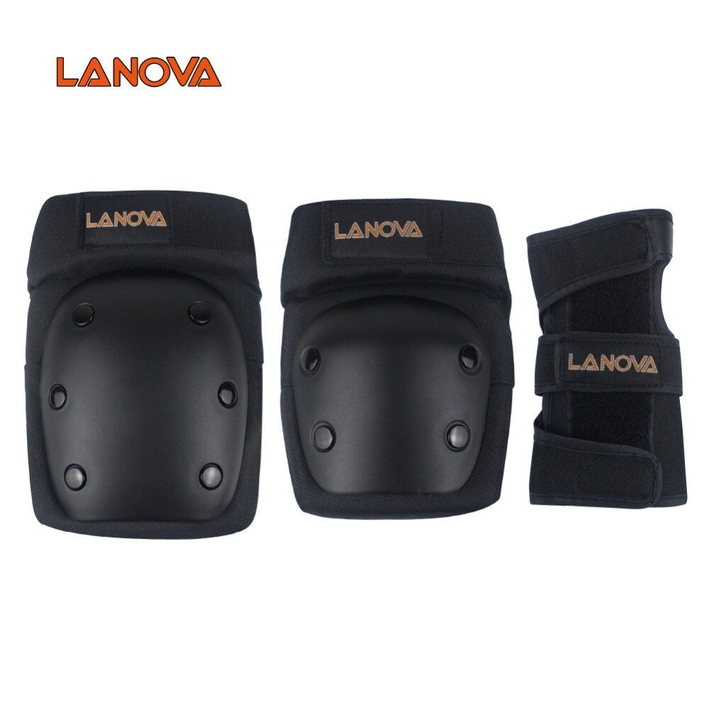 LANOVA 6pcs/Set protective patins Set Knee Pads Elbow Pads Wrist Protector Protection for <font><b>Scooter</b></font> Cycling Roller Skating 4 Size