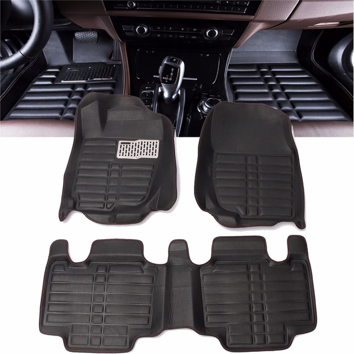 Black Floor Foot Pad Front & Rear Liner Waterproof Mat For TOYOTA RAV4 2013 2014 2015 2016 Car Styling Carpet Floor Liner
