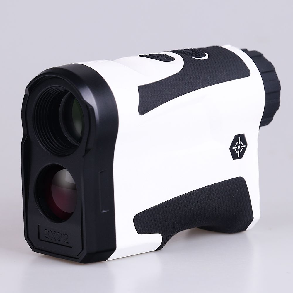 BIJIA 6x22 Professional Golf Laser Rangefinder 600m Hunting Range Finder Monocular With Vibrate Distance Correction White