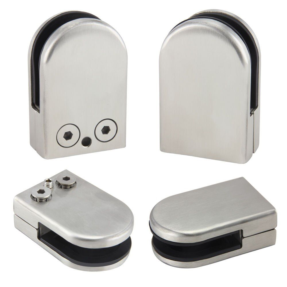 12X Acier Inoxydable Verre Clamp Holder Pour Fenêtre Balustrade Main Courante 53*33*20mm