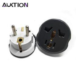 AUKTION adaptador de enchufe Universal de la UE 16A enchufes eléctricos internacionales convertidor toma de corriente AC 250 V para viajes a domicilio