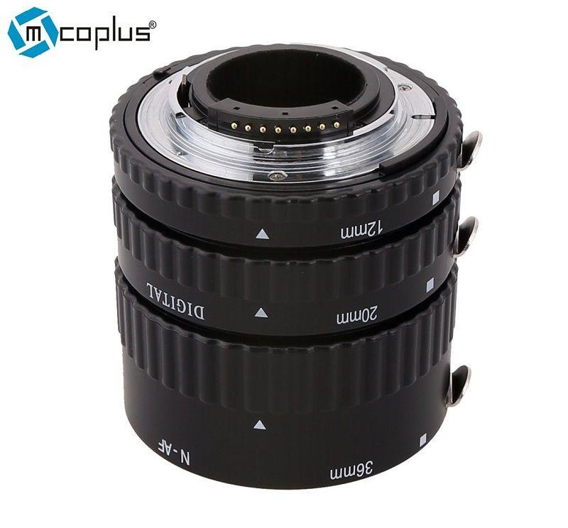 Mcoplus N-AF-A Metal Mount Autofocus AF Macro Extension Tube pour Nikon D7100 D7000 D5300 D800 D750 D600 DSLR Caméra
