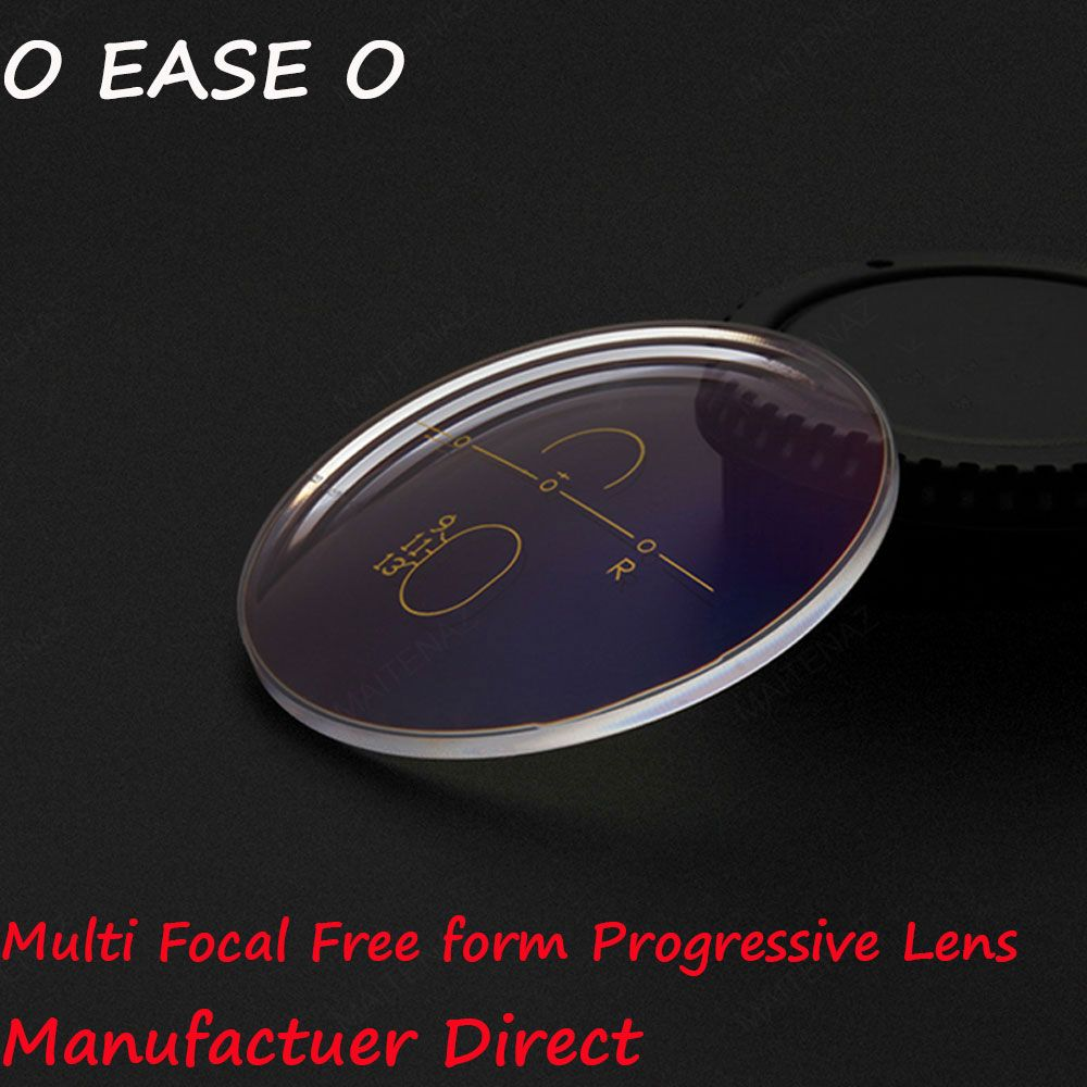 1.74 Super High Index Multi Focal Free form Progressive Lens Sphere Power With Lens Cut And Frame Fitting Service