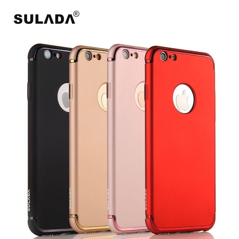 Sulada Роскошный телефон чехол для iPhone 6S 7 8 плюс жесткий матовой резины чувствовать себя Защитный чехол Крышка для iPhone X гальванизирует крышка