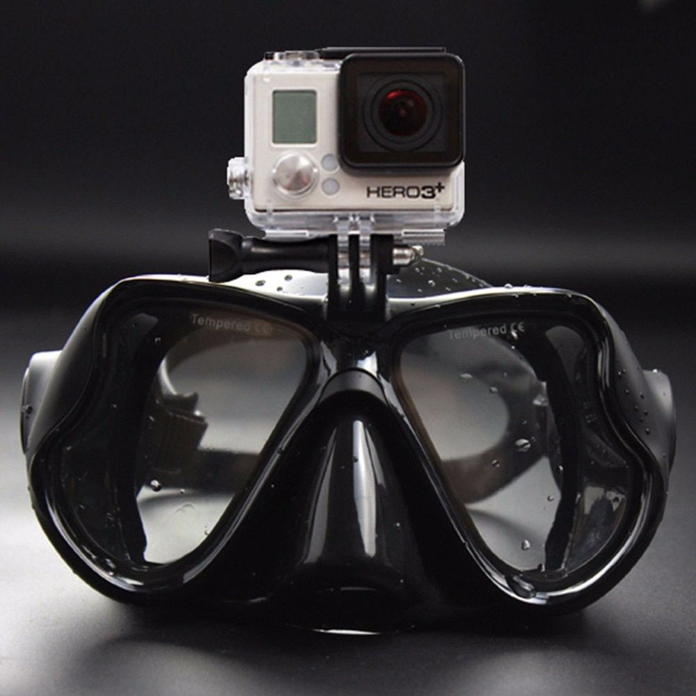 2017 Hot Professional Underwater Camera Diving Mask Scuba Snorkel Swimming Goggles for GoPro Xiaomi SJCAM <font><b>Sports</b></font> Camera