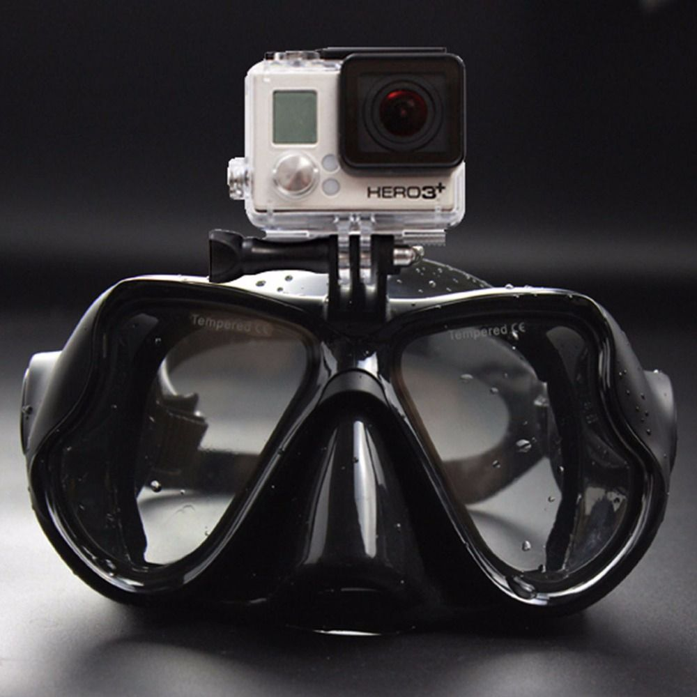 2017 Hot Professional Underwater Camera Diving Mask Scuba Snorkel Swimming Goggles for <font><b>GoPro</b></font> Xiaomi SJCAM Sports Camera