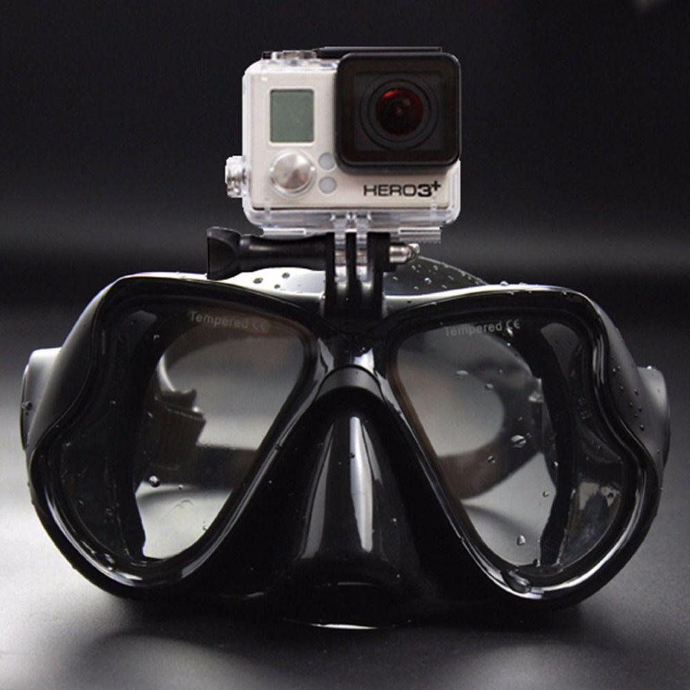2017 heißer Professionelle Unterwasserkamera Tauchen Maske Scuba Schnorchel Schwimmbrille für GoPro Xiaomi SJCAM Sport Kamera