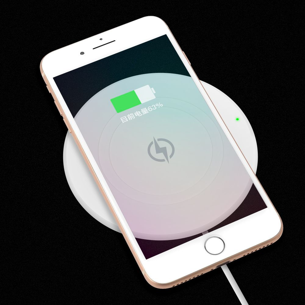 SIKAI Wireless Charger For iPhone X For Samsung Note 8 S8  Fast Charging Intelligent Charger Heat-resisted large energy