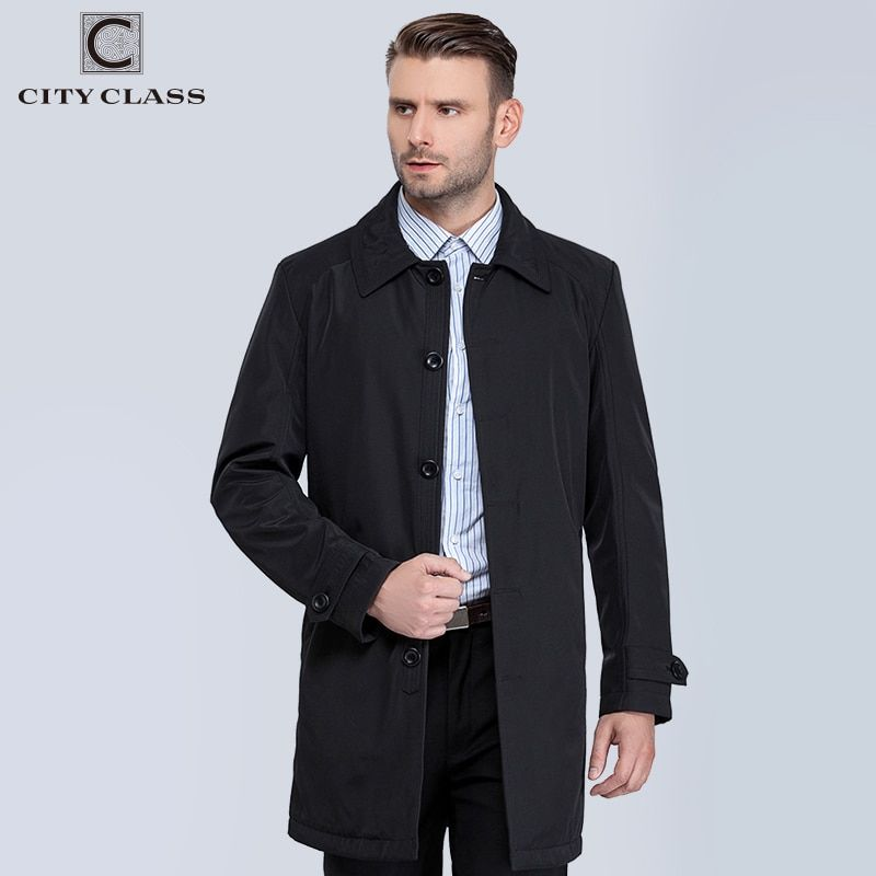 CITY CLASS nouveau hommes automne manteaux décontracté classique Trenchs Fit Turn-down col vestes manteaux livraison gratuite pour homme 1061-1