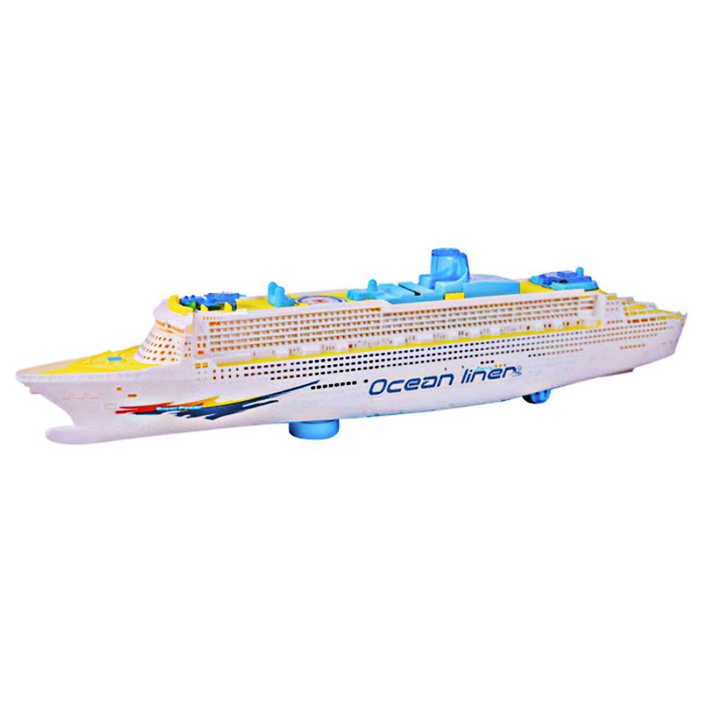 Música Modelo de Nave Eléctrica Intermitente Sonido Cruceros Luz de la Música Eléctrica Universal Trasatlántico Niños Barco de Juguete