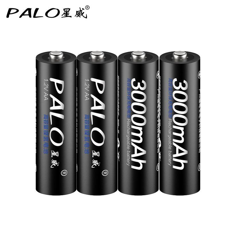 4 шт. AA батарея аккумуляторные батареи В 3000 в AA 1,2 мАч Ni-MH Предварительно заряженный аккумулятор 2A Baterias для камеры с коробкой