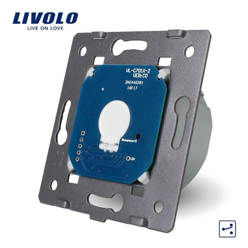 Livolo EU Standard, 1 Gang 2 Way, AC 220 ~ 250 V, Wandleuchte Touchscreen Ohne Glasscheibe, VL-C701S