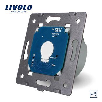 Livolo Standard de L'UE, 1 Gang 2 Way Contrôle, AC 220 ~ 250 V, Light Wall Écran Tactile Commutateur Sans Panneau de Verre, VL-C701S