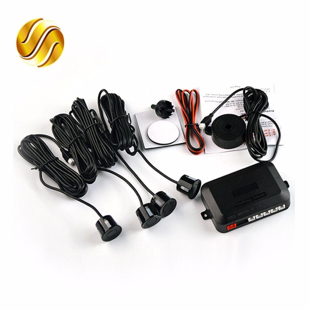 4 Sensors Buzzer 22mm Car Parking Sensor Kit Reverse Backup Radar Sound Alert Indicator Probe System 12V 8 Colors