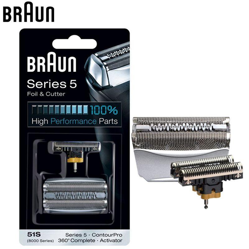 Braun 51 S rasoir lame Feuille & Cutter Remplacement Série 5 Électrique Rasoirs Têtes (8998 8595 8590 5643 5644 5645 Nouveau 550 Nouveau 570)