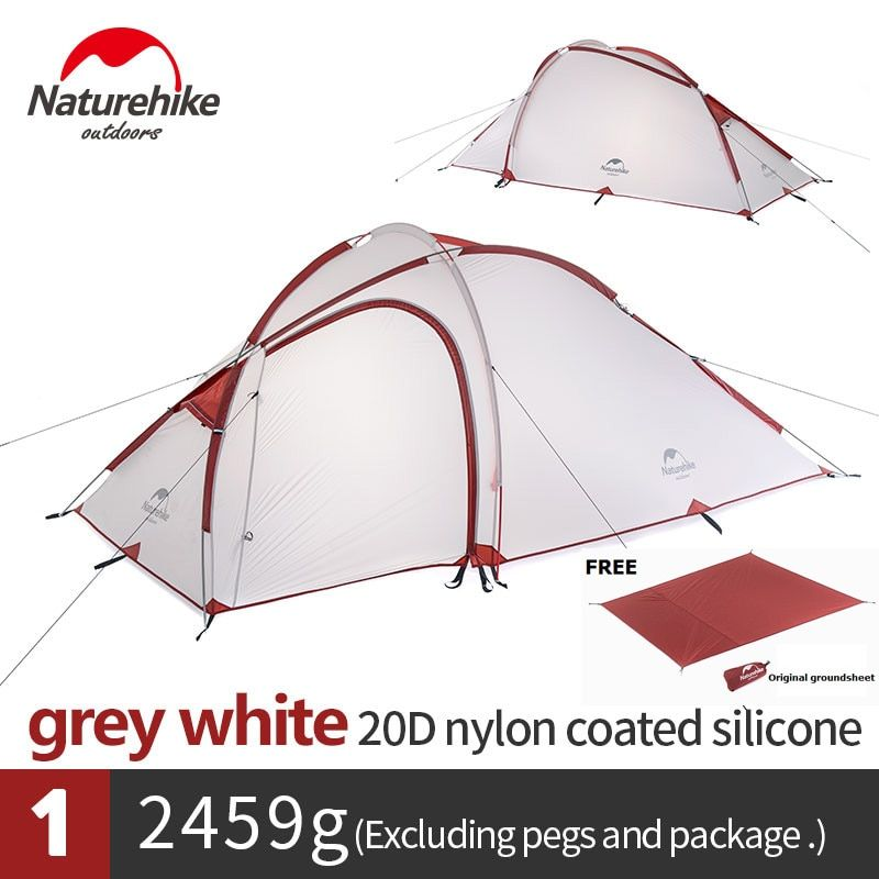Naturehike Hiby Family Tent 20D Silicone Fabric Waterproof Double-Layer 2 Person 3 Season camping tent one room one hall