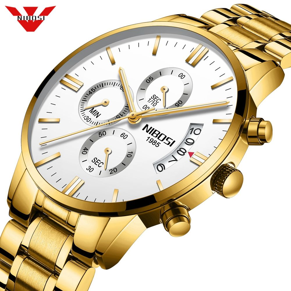 NIBOSI Man Watch 2019 Relogio Masculino Mens Watches Top Luxury Brand Sport Military Quartz Watch Men Wristwatch Male Clock Saat