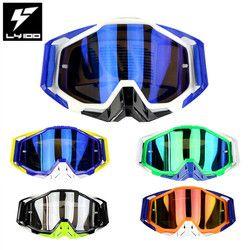 Promoción caliente Original LY-100 marca Motocross gafas ATV Casque Moto Racing Moto sol