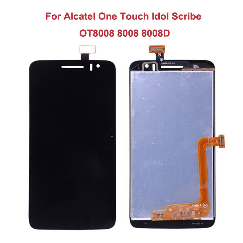 For Alcatel One Touch Idol Scribe OT8008 8008 8008D LCD Display+Touch Screen Original Digitizer Assembly Replacement