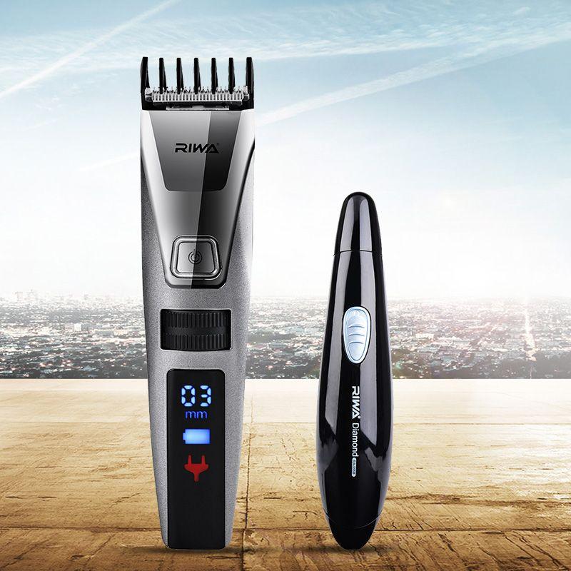 RIWA Electric Trimmer Hair Clipper Professional Hair Trimmer LCD Display Nose Trimmer Men Clipper Haircut Machine Hair Cutting