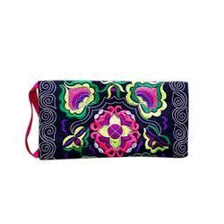 Toda la venta mujeres étnicas bordadas monederos embrague bolso de la vendimia monedero monederos para monedas # y