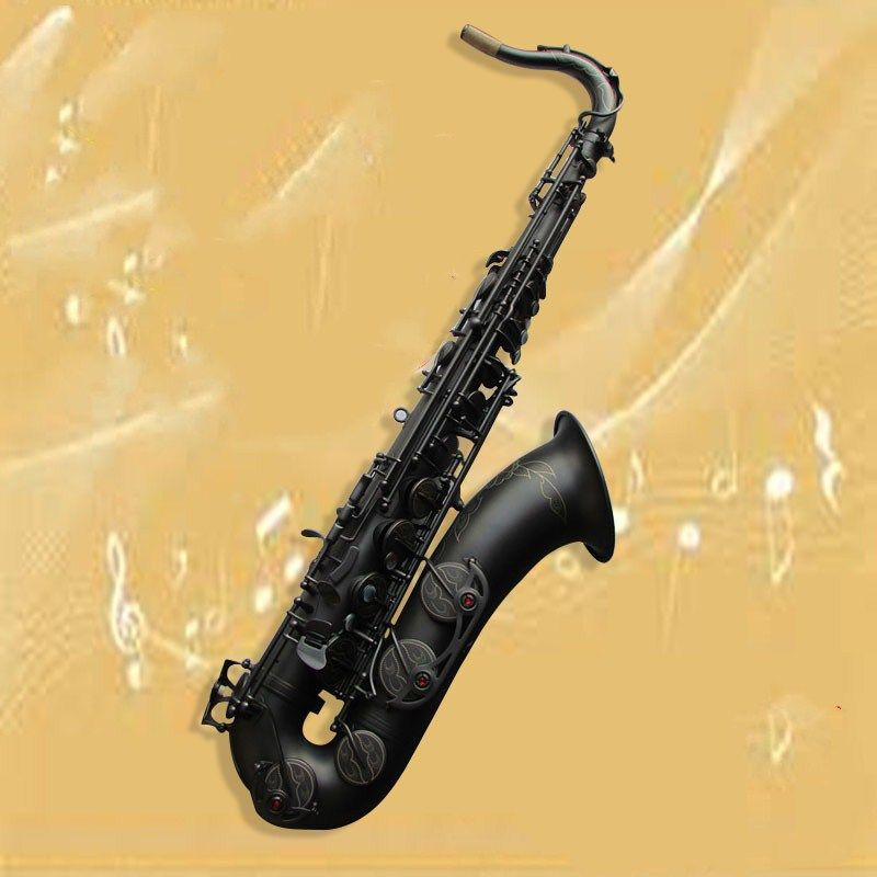 New selling Musical instrument Tenor saxophone Suzuki High-quality Matt black Tenor Sax beautiful case Music Free shipping