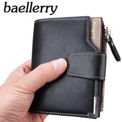 Nueva cartera Baellerry marca hombres cortos carteras de cuero PU monedero hombre cartera hombre de la manera de la cremallera cartera hombres monedero bolsa