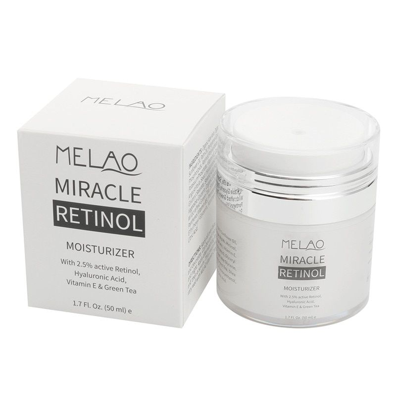 Hyaluronic Acid Organic Retinol Moisturizer Face Cream Anti-aging Face Eye Area Vitamin E and Green Tea Face Whitening Cream