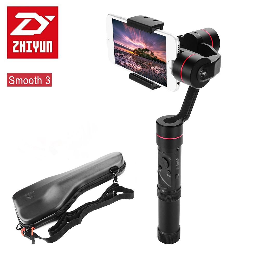 Zhiyun Smooth III Smooth 3 3-Axis Handheld Smartphones Gimbal for iPhone X 8Plus 8 7Plus 7 6S Samsung S9+ S9 S8 S7 Gopro 4 5