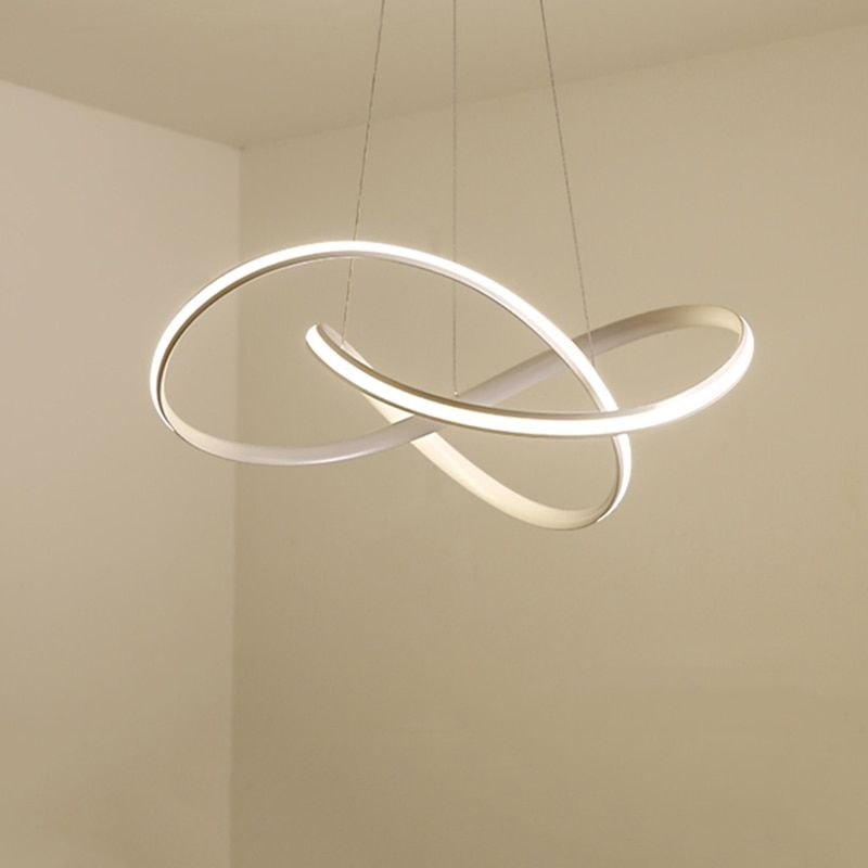 <font><b>Modern</b></font> led Chandelier for Kitchen Dining Room Living Room Suspension luminaire Hanging White Black Bedroom Chandeliers Fixtures