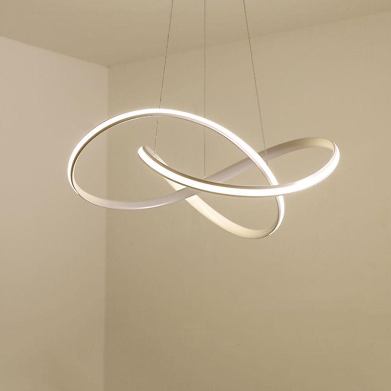 Moderne led Lustre pour Cuisine Salle À Manger Salon Suspension luminaire Suspendu Blanc Noir Chambre Lustres Luminaires