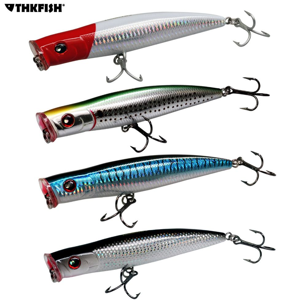 1pcs 1.6oz 6.3in Saltwater Popper Fishing Lures GT Offshore Big Game Top Water Tuna Lures Heavy Duty Hare Surface Type Lure