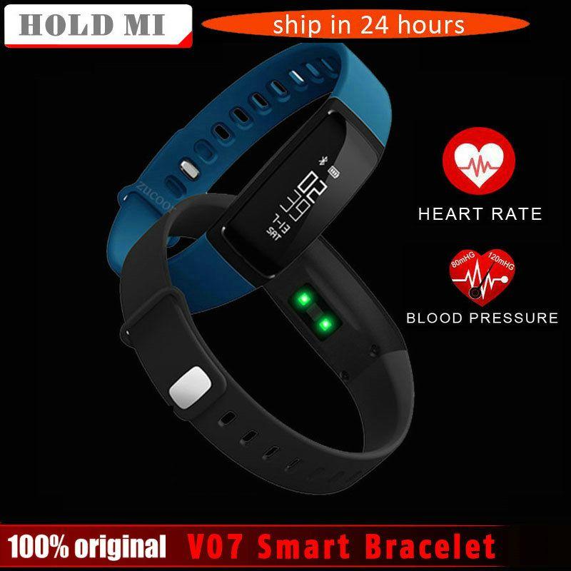 Halten Mi V07 Blutdruck Smart Armband Schrittzähler Smart Armband Pulsmesser Smartband Bluetooth für Android IOS Telefon