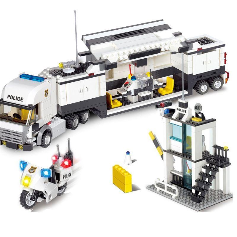 511 + PCS classique blocs de construction poste de Police modèle blocs de construction bricolage construction jouet briques jouets éducatifs pour enfants cadeau