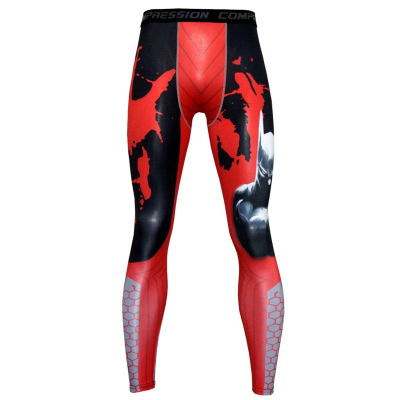 2017 New men printing leggings compression tight Sportswear jogging sport fitness Gym pant male trousers Run workout pants
