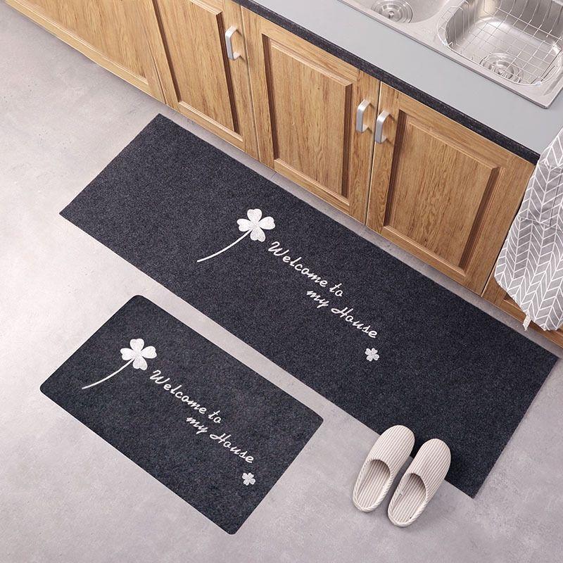 Kitchen Accessories Door Mat Tapete Doormats Carpet Thin Non-Slip Kitchen Bathroom Carpet Room Pad Floor Mat Home Floor Mats