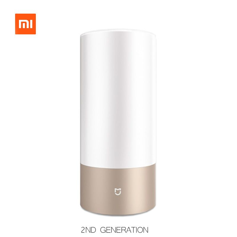 Xiaomi Yeelight Bedside Lamp 2 Wifi Bluetooth Dual Remote Contro Smart LED Table Cylinder Lamp Touch Dimmable Color Changing RGB